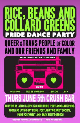 Basic Rights Oregon Rice, Beans, and Collard Greens Pride Dance Party