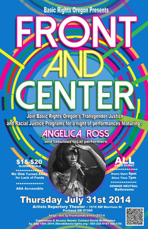 Basic Rights Oregon Front and Center Performance Arts Showcase Fundraiser