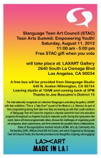Made In L.A. S.T.A.C. Empowering Youth Flyer