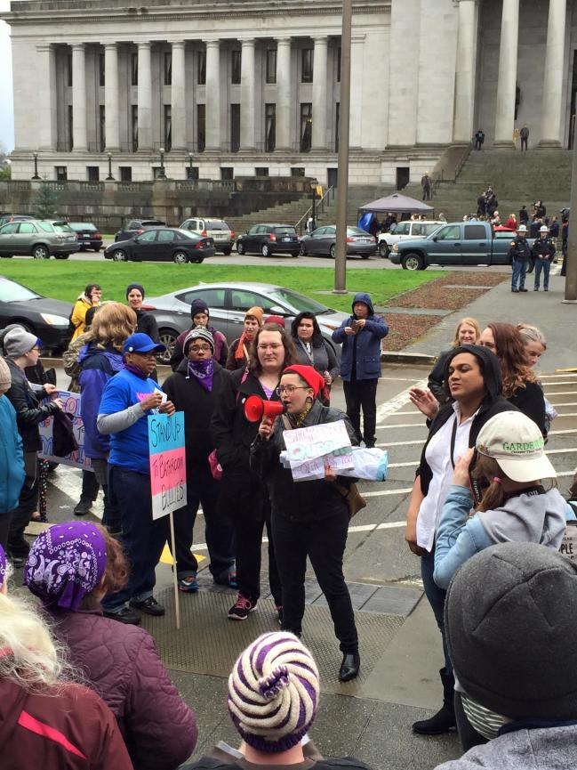 Organizing in solidarity against transphobic bathroom bills in Washington state