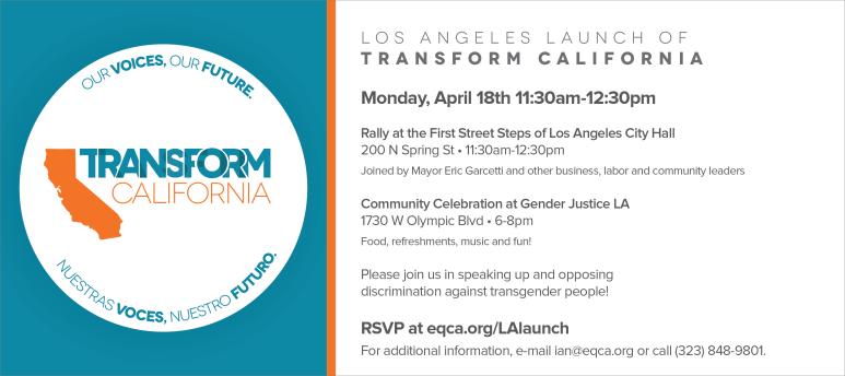 Transform California Press Launch and Rally