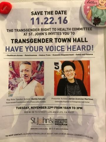 St. John's Well Family & Child Transgender Town Hall